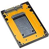 ProjectM mSATA SSD 2.5インチSSD化アルミケース ブラック PM-MSATA257BK