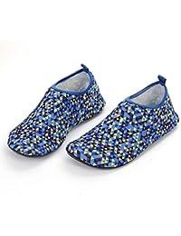 palette blue メンズ アクアシューズ ウォーターシューズ 海 水陸両用 アウトドア靴 マリンシューズ レディース 男女兼用 ビーチ リゾート(XL(25-25.5cm) ブルー)