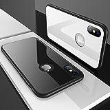 【CASEKOO】iPhone X ケース 強化ガラスケース 硬度9H ピアノホワイト キズ防止 高級感 iPhone X カバー シンプル 取り出し易い ストラップホールあり
