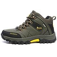 トレッキングシューズ   ハイカット  登山靴 メンズ   ハイキングシューズ 防水 防滑 ウォーキングシューズ   大きいサイズ  アウトドア トラベル  スニーカー クッション性/吸汗/通気性  グリン 25.0CM