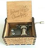 """刻印木製手クランクMusicボックスクリスマスギフト(ブルー) for MerryクリスマスHarry Potter 65mm x 50mm x 40mm (2.5"""" x 2.0"""" x 1.5"""".."""
