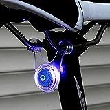 スポーク LED ライト 自転車 サイクル 用 ぶら下げ 式 防水 シリコン テール ランプ 早 点滅 遅 点滅 点灯 の 3 パターン クリーニング クロス セット (3. ブルー 青)