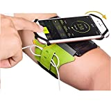 Best iPhone 4のアームバンド - XZA スポーツ スマホアームバンド 180°回転式 ランニングアームバンド 携帯ホルダー マジックテープ式 小物収納 Review
