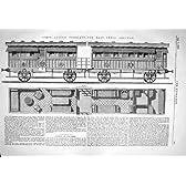 1867 の州の大広間キャリッジ東のインド鉄道エンジン工学