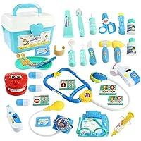 WTOR お医者さんごっこ 36点セット びょういん 知育玩具 おもちゃ ドクター 救急車 女の子 子供のお誕生日プレゼント クリスマス 贈り物(薬箱付け)