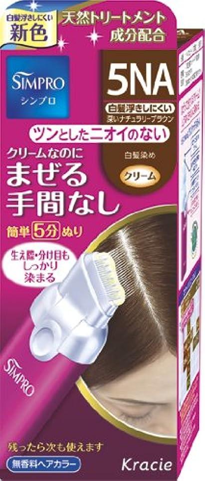 長方形ミニチュア満たすシンプロ ワンタッチ無香料ヘアカラー 5NA
