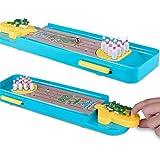 ミニボウリングゲーム、ミニデスクトップボウリングゲームミニ卓上ボウリング玩具子供と大人のための古典的なデスクボール 子供向けボーリングプレイセット (色 : As picture, サイズ : 34*10*2.5cm)