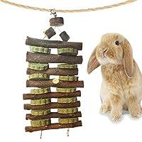 改良品 小動物用おもちゃ 噛む玩具 うさぎ ハムスター りんごの木 天然草 二列 ペットおもちゃ