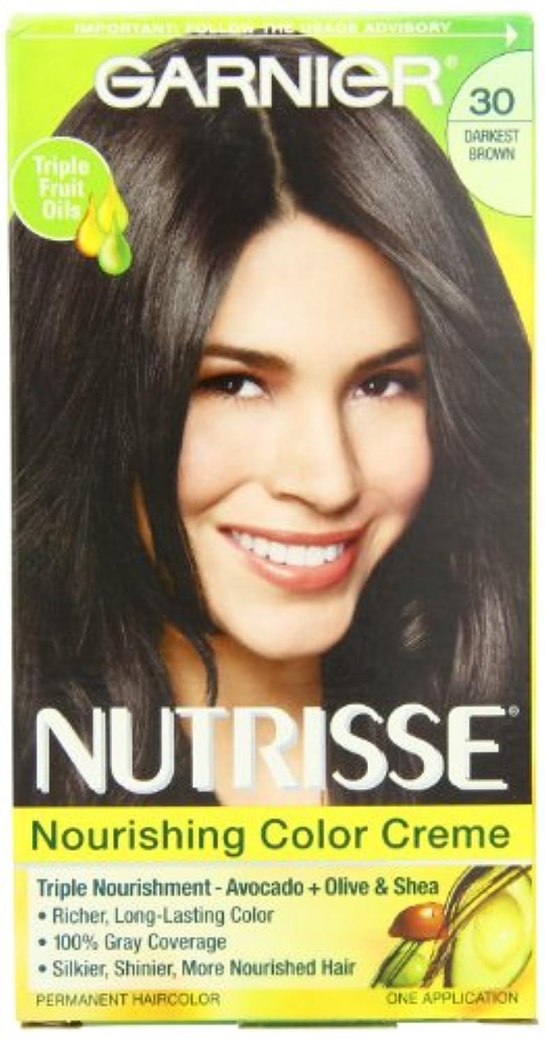 Garnier Nutrisseパーマネントヘアカラー、30ダーケスト?ブラウンスウィート?コーラ