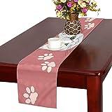 GGSXD テーブルランナー 幼い 赤い猫 クロス 食卓カバー 麻綿製 欧米 おしゃれ 16 Inch X 72 Inch (40cm X 182cm) キッチン ダイニング ホーム デコレーション モダン リビング 洗える