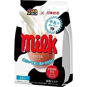 チロルチョコ×日東紅茶 牛乳でおいしいミルクココア 8P×6個