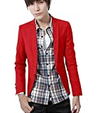 (アルファーフープ) α-HOOP 大きい サイズ も 無地 きれいめ カジュアル 長 袖 1 ボタン アウター ジャケット M ~ XL メンズファッション 男性 用 a44(05.赤色(Lサイズ).)…