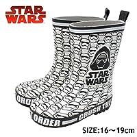 [ディズニー] STAR WARS キッズ レイン 長靴 1063 ブラック ホワイト (19cm, WHITE)