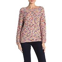 Rebecca Minkoff Women's Cable Knit Pullover Boatneck Juna Sweater Multicolored XX-Small