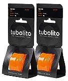 2本セット Tubolito(チューボリート) 【正規品】Tubo Road(チューボロード) 700×18?28c ETRTO(18/28-622) 仏式バルブ42mm 超軽量インナーチューブ(重量1本あたり38g) TIT14304