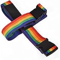 クロース(Kroeus)スーツケースベルト固定ベルトトランクベルト 十字型 ワンタッチ 旅行用品 丈夫な素材 手提げバッグ止めるバルト付属