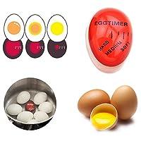 Prament KC-008 1pc 卵パーフェクトカラータイマーを変更するおいしいソフトハードゆで卵クッキングキッチン環境に優しい樹脂卵タイマー赤