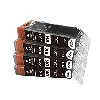 BCI-321BK 互換インク キャノン bci321 ブラック 黒 4個セット canon ICチップ付 一年保証付 プリンター保証付