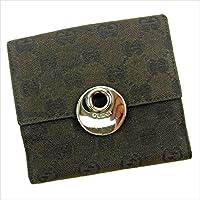 [グッチ] GUCCI Wホック財布 二つ折り財布 オーバル 120932 GGキャンバス 中古 Y6022