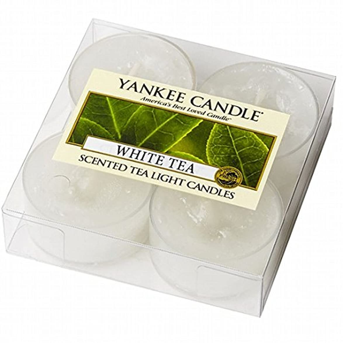 YANKEE CANDLE(ヤンキーキャンドル) YANKEE CANDLE クリアカップティーライト4個入り 「ホワイトティー」(K00205277)