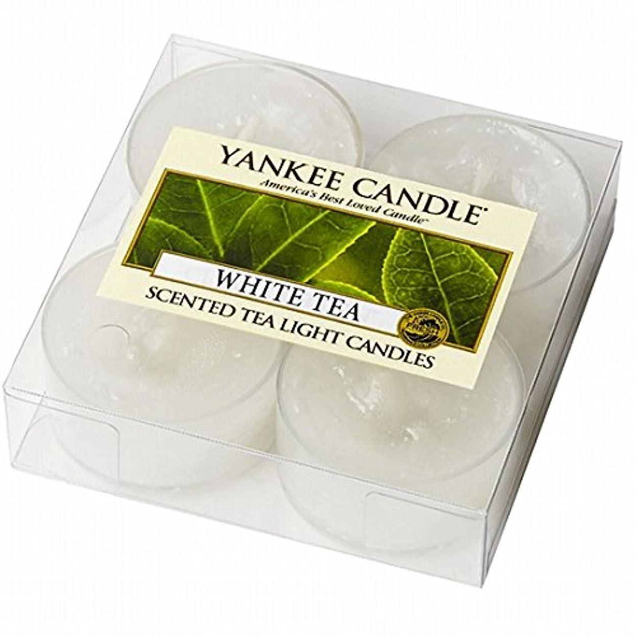 バクテリア自発的小間YANKEE CANDLE(ヤンキーキャンドル) YANKEE CANDLE クリアカップティーライト4個入り 「ホワイトティー」(K00205277)