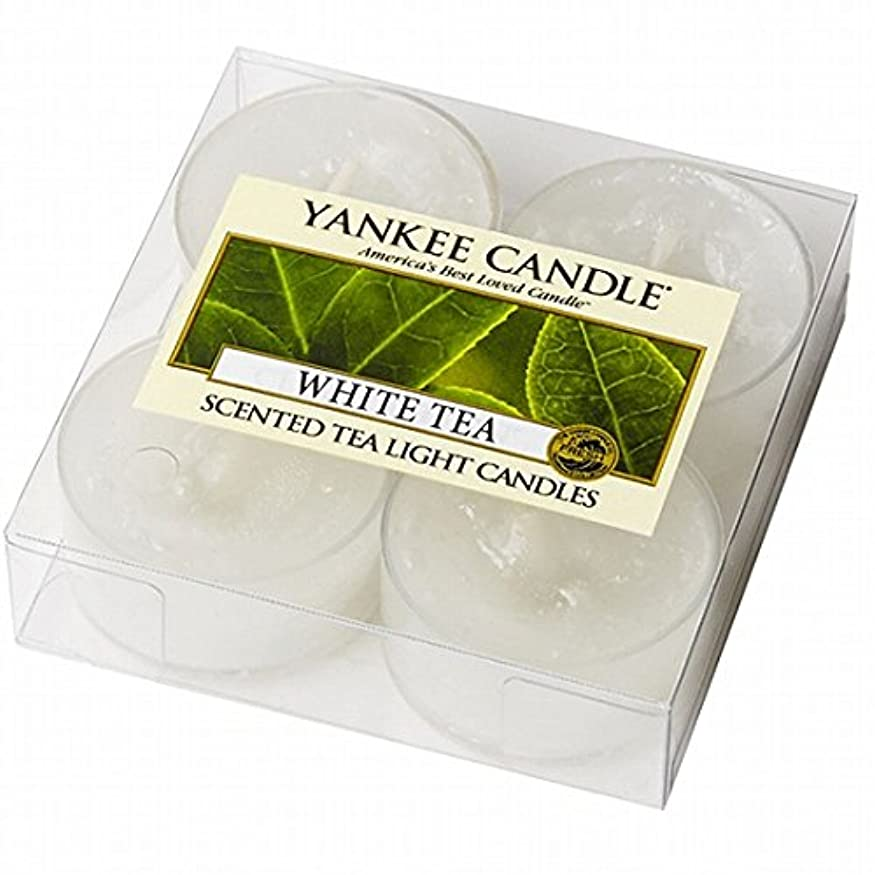 生産性汚れる彼自身YANKEE CANDLE(ヤンキーキャンドル) YANKEE CANDLE クリアカップティーライト4個入り 「ホワイトティー」(K00205277)