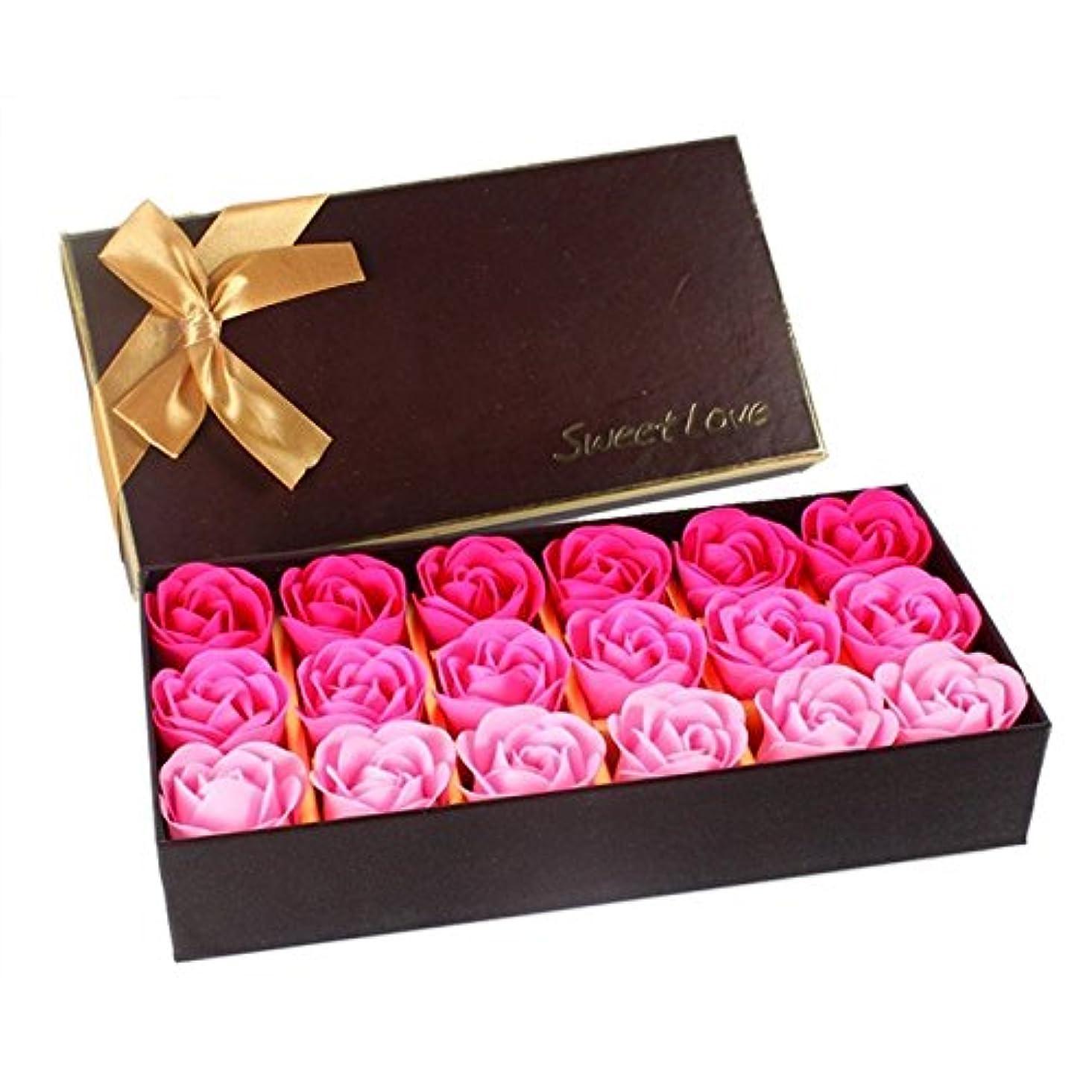 ゴージャスいろいろ排出ローズ フラワーソープ 石鹸 薔薇 プレゼント お祝い ① #333