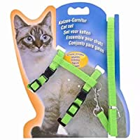 ネコ用ハーネスリードセット 胴輪セット 全6色(緑)