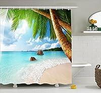 バスルーム- クリエイティブな海景のシャワーカーテンハイグレードのポリエステル素材防水&ヘビーデューティーデザイン、バスルームのカーテンフックが含まれています ( サイズ さいず : 2*2m )