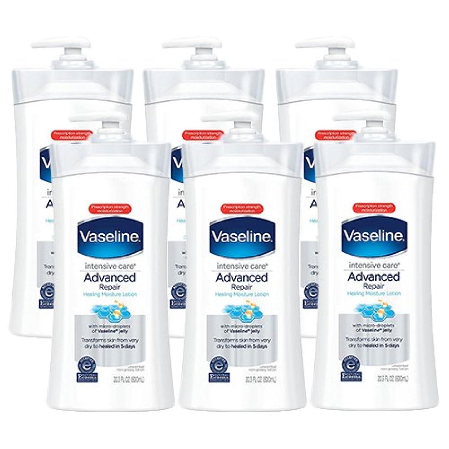 隔離する服を洗う引っ張るヴァセリン アドバンスド リペア ボディローション 600ml×6本セット インテンシブケア 敏感肌にも (モイスチャーロッキングローション) Vaseline [並行輸入品]