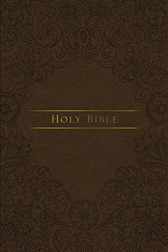 Holy Bible: King James Version, Brown, Journal the Word Reference Bible, Imitation Leather, Red Letter Edition, Comfort Print; Let Scripture Explain Scripture; Reflect on What You Learn