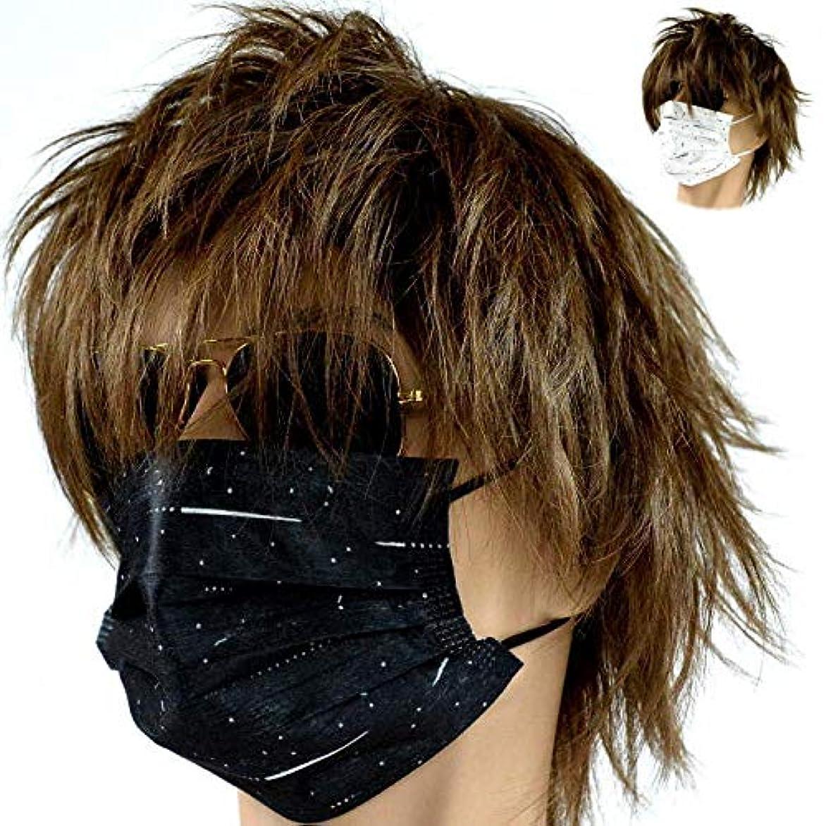 どきどき次プレフィックス黒 マスク ブラック マスク 黒マスク ブラックマスク 10枚入り 10枚パック 花粉 pm2.5 クロ 7992767