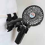 Cools.jp ウェアラブル着用扇風機「抱っこファン」両手が使える、リュックサック・ショルダーバッグ・おんぶ紐・エアロバイク・ベルト・帽子・車いす・傘・掃除機に着く、充電式 長時間稼働 黒