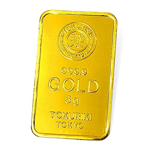 【5g ゴールドバー+3.99g 純銀 セット】 [純金]:TOKURIKI ゴールドバー 5g 日本製 5gの純金 24金 Gold Bar  保証書付き / [純銀]:「銀の涙」ガラスの小瓶 3.99gの純銀の粒 日本製 シルバー 保証書付き