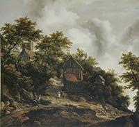 ロイスダール ベントハイム城の見える風景 8号 額タイプH