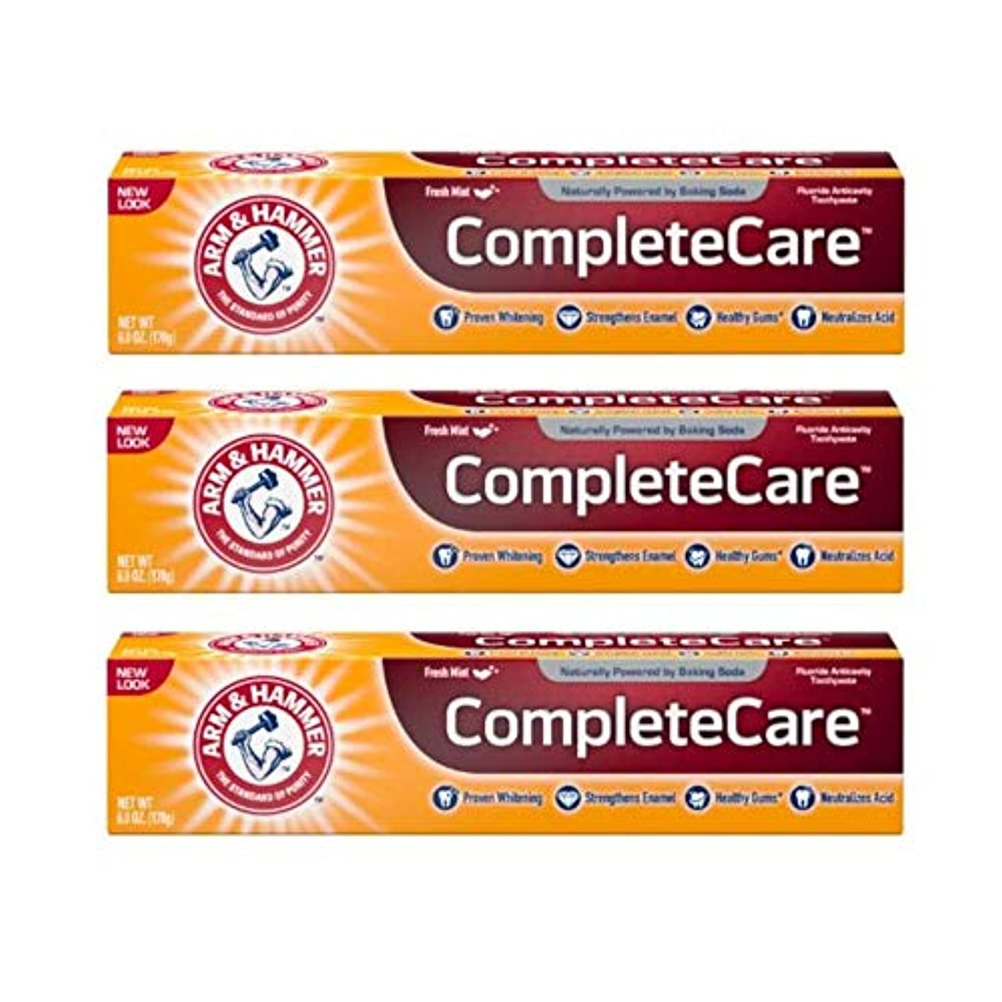 対話敬礼ブラウンArm & Hammer Fluoride Anti-Cavity Toothpaste - 6 oz - 3 pk by Arm & Hammer
