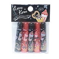 LOVE KOREA[鉛筆キャップ]えんぴつカバー5本セット/SWEETS カミオジャパン オルチャン 韓流 グッズ 通販