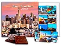 """DA CHOCOLATE キャンディ スーベニア """"サンフランシスコ"""" チョコレートセット 5×5一箱 (Sunset)"""