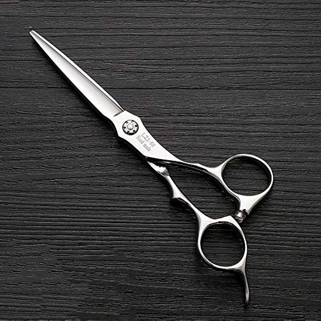 発音ナビゲーション思い出6インチハイエンド理髪師理髪用はさみ ヘアケア (色 : Silver)