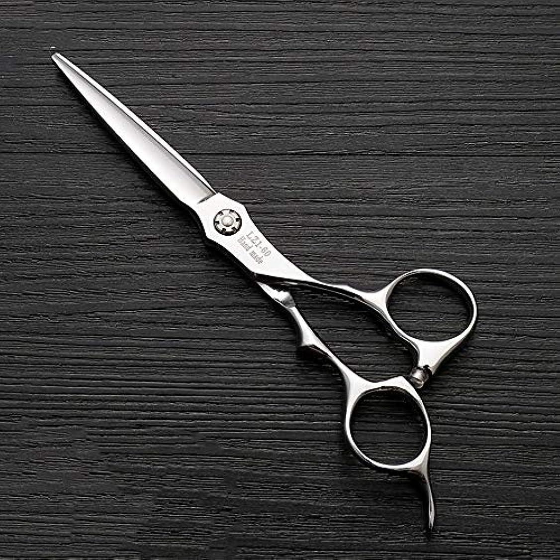 ラリー正気アミューズメントHOTARUYiZi 散髪ハサミ カットバサミ セニング 散髪はさみ プロ すきバサミ ヘアカット カットシザー 品質保証 耐久性 美容院 ステンレス鋼 専門カット 6インチ 髪カット (色 : Silver)