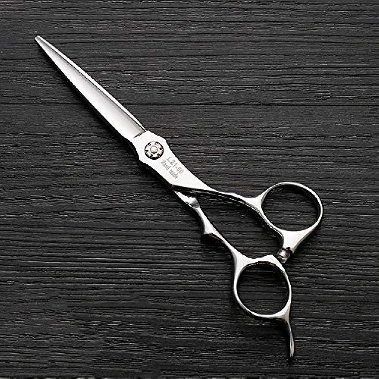 熟練したぴかぴか不振6インチハイエンド理髪師理髪用はさみ ヘアケア (色 : Silver)