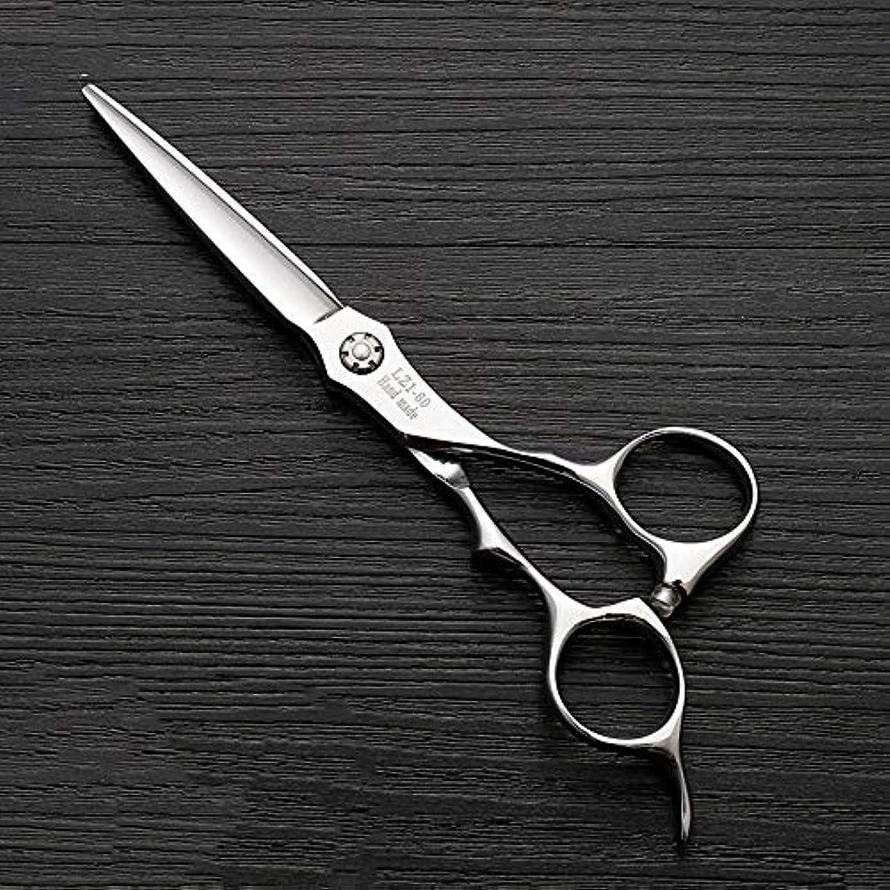 急ぐデンマーク語モチーフ理髪用はさみ 6インチハイエンド理髪プロ理髪はさみツール髪カット鋏ステンレス理髪はさみ (色 : Silver)