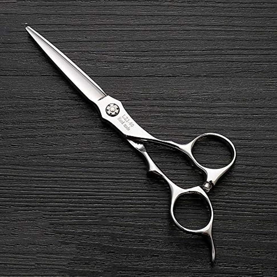 地上の結晶集める6インチハイエンド理髪師理髪用はさみ ヘアケア (色 : Silver)