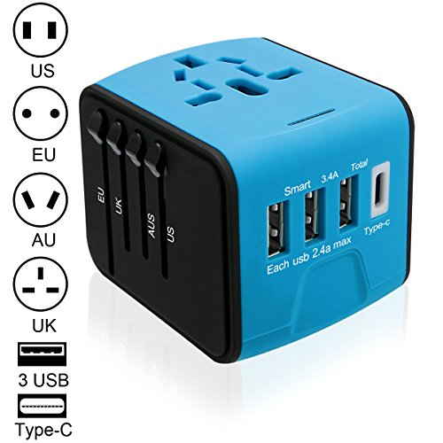 Luxebell 海外旅行充電器 海外旅行用変換プラグ 3U...
