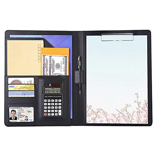 A4 バインダー クリップボード 多機能フォルダー 12桁電卓付き 会議パッド ビジネスファイル 収納ポケット...