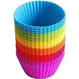 24 pcs silicone cake baking cup, silicone baking cup, silicone muffin cup, reusable silicone cake cup, cake lining does not c
