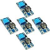 Rasbee 5個 DC-DC 2A Boost ステップアップ 転換モジュール 国内配送 MT3608 2V-24V to 5V-28V 9V 12V 24V 調整可能 コンバータ 昇圧型 電源モジュール Arduino用 DIY