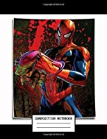 Composition Notebook: Superheros Spider-man Cartoon Movies Wide Rule Line Paper Composition Notebook Journal Diary • 7.44 x 9.69 in • 110 Pages
