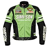 シンプソン(SIMPSON) バイクジャケット メッシュジャケット グリーン 4L SJ-7115