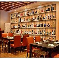 Weaeo 大きなワインビールの木の壁紙レストランのための壁画カフェの背景3D写真壁画3D壁画壁紙-250X175Cm